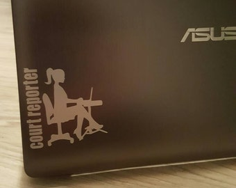 Court reporter - decal, iron-on, man or woman, court reporter, captioner, transcriptionist, voice writer