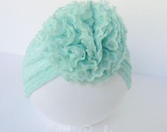 Pale Turquoise Lace