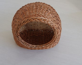 Wicker basket, Cat Bed, Cat Wicker Basket, Cat House, Wicker Cat/Small Dog House, Willow Basket for Cats, Pet Carrier, Willow Cat Basket