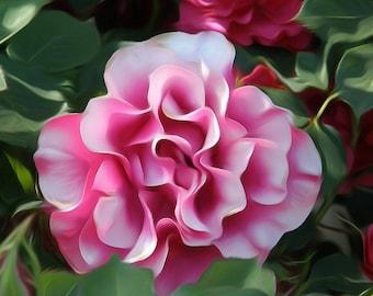 Digitally Enhanced 8x10 Photo Print - Pink Flower