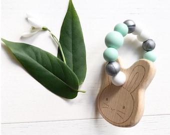 Bunny Teether Mint | Teething toy | Baby Gift |