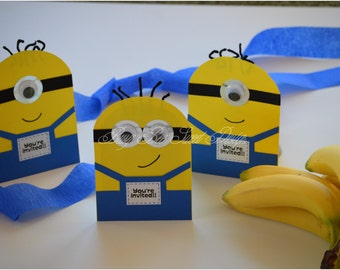 Minions Invitations / Despicable Me Party Theme / Minions Party