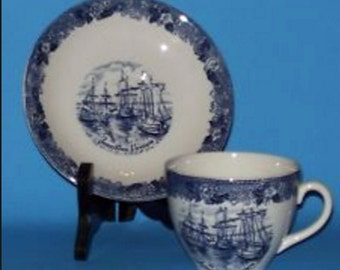 Alfred Meakin Tea Cup and Saucer / Jamestown, Virginia