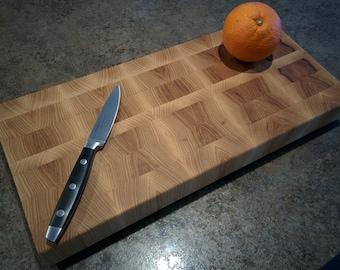 Hickory End Grain Butcher Block Cutting Board