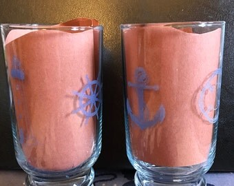 Laser etched glasses.