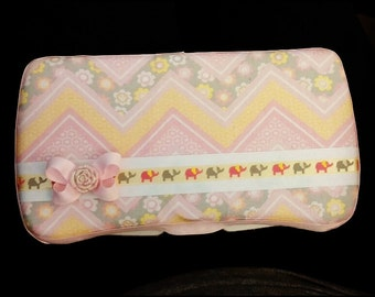 Baby girl travel wipe case