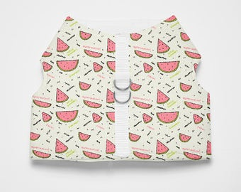 Watermelon Patterned Dog/Cat Harness-Tropical Melon Textile Dog/Cat Harness-Watermelon Dog/Cat Vest Harness