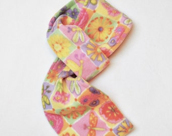 Hassle-Free Flowers & Dragonflies Fleece Scarf (Youth-Size)