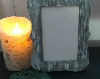 White Wash Hand Painted Frame