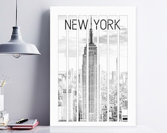 New York City Print, New York Wall Art, New York Poster, Empire State