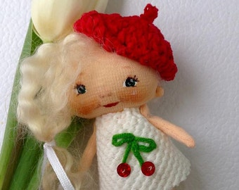 brooches dolls, rag brooch, textile doll, small doll,textile baby doll