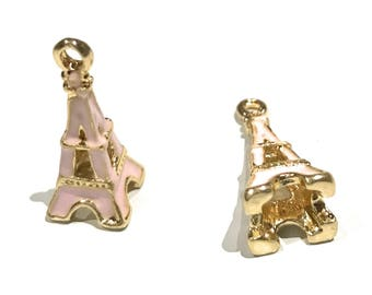 Eiffel Tower Charm, 3D Eiffel Tower Charm, Love Charm, Paris Charm, Gold Eiffel Tower, DIY Jewelry, Jewelry Findings, Jewelry Making, Enamel