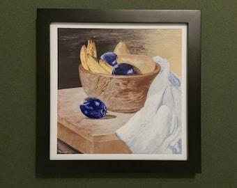 Still Life, Fruit Bowl - Limited Print