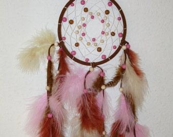 Dream catcher/Dreamcatcher small brown - pink - beige