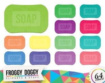 Soap Clipart, Soap Bar Clipart, Washing Clipart, Cleaning Clipart, Shower Clipart, Planner Clipart, Scrapbooking Cliparts