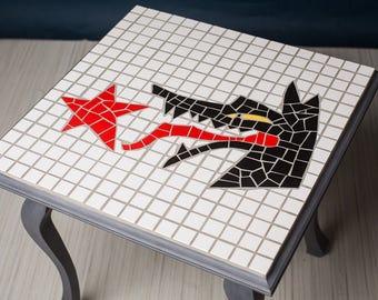 Ceramic mosaic table KKŻ Krośnieński klub żużlowy