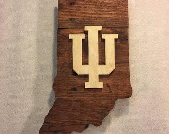 Indiana University Sign, IU Sign, Hoosier Sign, Indiana Sign