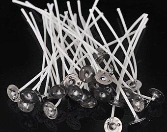50 Pcs (20 cm) Cotton Core Waxed Candle Wicks