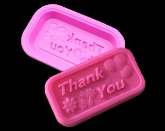 1 Pcs Thank You Soap Mold