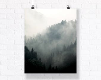 Mountain Forests at Transylvania. High Quality Atmospheric Nature Print. Combine with Other Prints to Create Your Very Unique Gallery Wall.