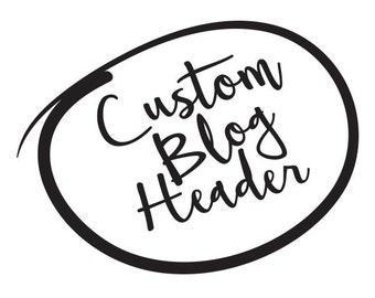 Custom Blog Header Design