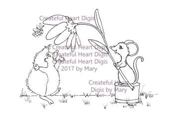 Hedgehog Happy Dance  (digital image, stamp)