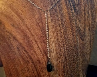 Black Drop Bead Necklace