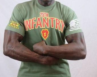 25th Infantry Division Vietnam Veteran Graphic T-shirt