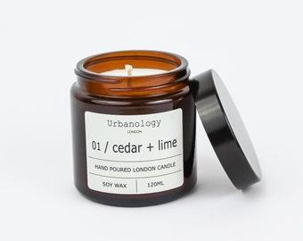 Travel Soy Candle - Cedar + Lime (120ml)