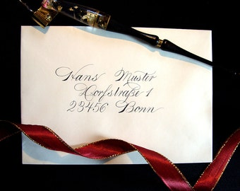 Custom Wedding Envelope Calligraphy Addressing