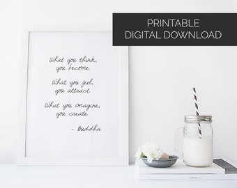 Buddha Quote Poster A4 printable