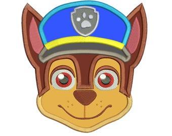 Police Dog Embroidery Applique Design