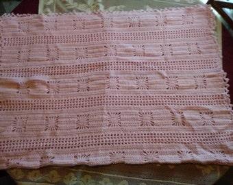 Pink Squares Baby Blanket