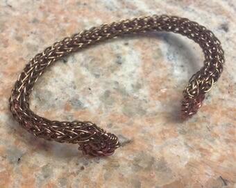 Bracelet, Viking weave, med.size in Bronze