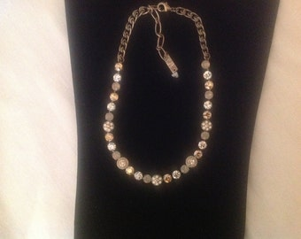 Crystal jeweled necklace