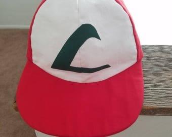 Adult Sized Ash Ketchum Baseball Cap - Classic Ash Ketchum Hat from the Original Pokemon Series - Washable Cotton Pokemon Baseball Cap