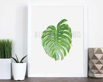 Grand Palma, Palm Leaf Wall Decor, Digital Download Art, Wall Art, 8x10, PDF