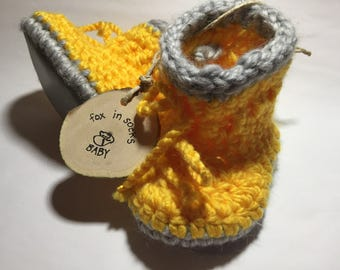 The Rubber Boot Crochet Baby Bootie