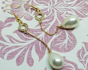 Pearl Tear Drop Earrings