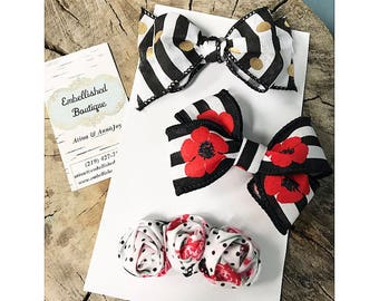 Poppies Hair Bow Collection