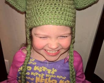 Star Wars inspired Yoda hat, Star Wars, Yoda. Crochet Star Wars hat. Infant, Picture session