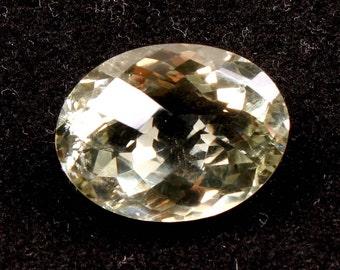 23.90 ct. Natural Green Amethyst faceted oval cut loose gemstones Ki-15136