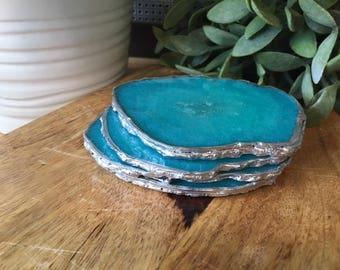 Sea Spray Resin Agate Crystal Coasters