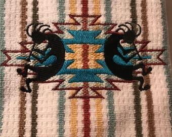 Embroidered  Kokopelli Kitchen Towels. Set of 2.