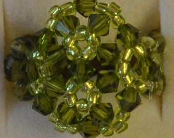 Blue/Green snowflake ring
