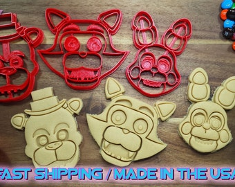 Five Nights at Freddy's Cookie Cutters. Throw a Five Nights at Freddy's themed Party with custom cookies!