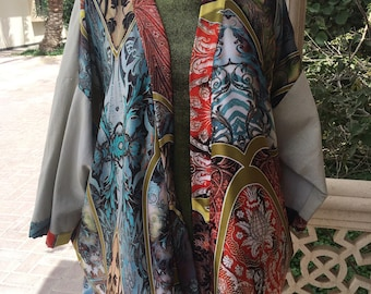 Handmade silk and linen jacket