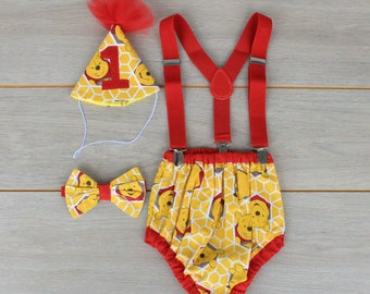 Winnie The Pooh 4 Piece Cake Smash Outfit