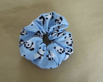 Hair ruffle / scrunchie with pandas