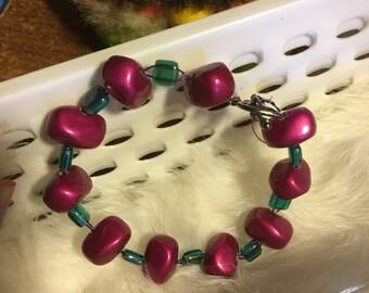 Ruby Nuggets Bracelet